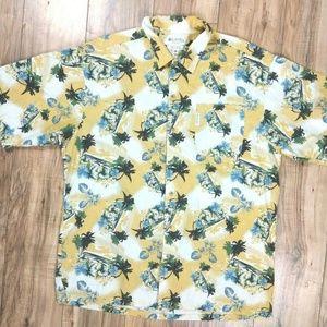 Columbia Hawaiian Floral Button Up Shirt Mens XXL